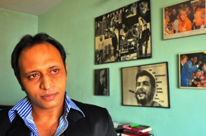 Frank Hazur at home in Mumbai
