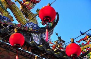 Raising the red lanterns: Hainan temple in Muntri St, Georgetown