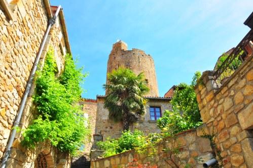 """Montpeyroux perches on a hilltop and is one of """"les plus beaux villages de France""""."""